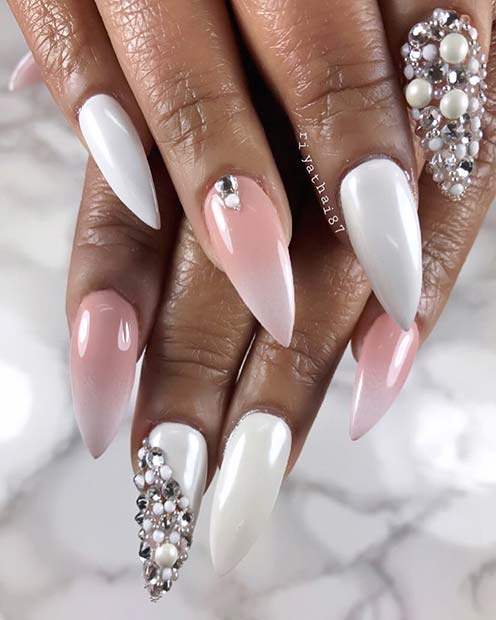 French Ombre Accent Nail