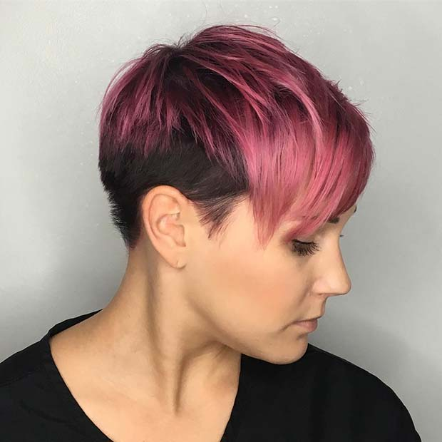 Short Pink Ombre Hair