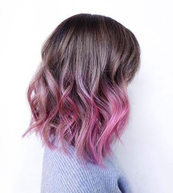 Soft Pink Ombre Lob