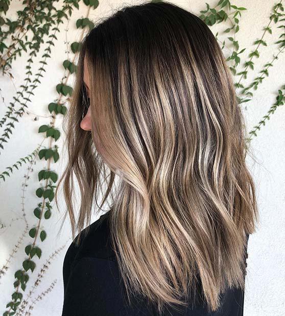Black, Brown and Blonde Hair