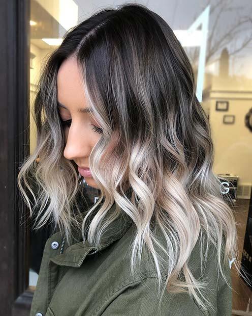 Black and Light Blonde Hair