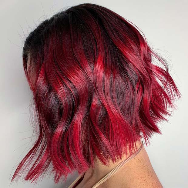 Short Red and Black Hair