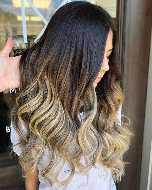 Glam Black and Blonde Hair