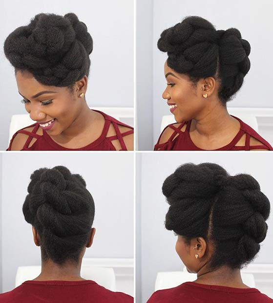 Glam Natural Hair Updo