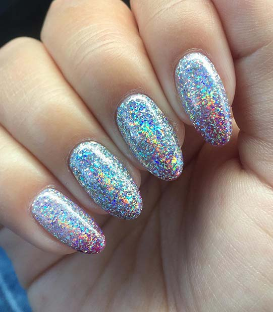 Holographic Gel Nail Design