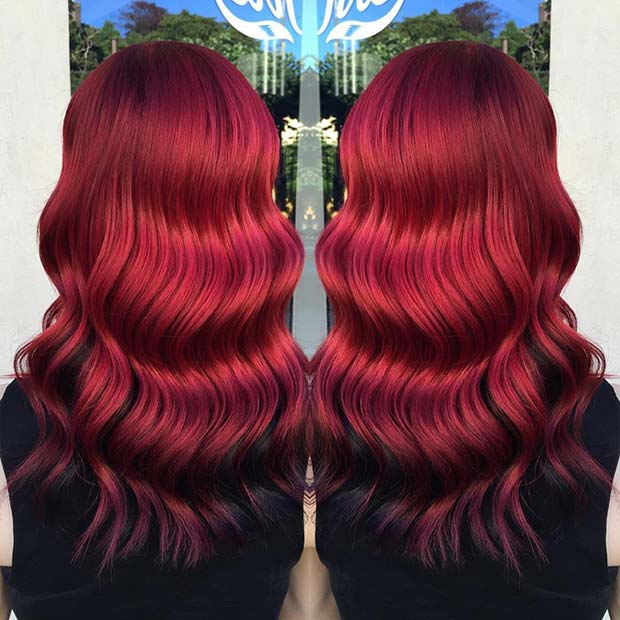 Pretty Red Hair with Black Underneath
