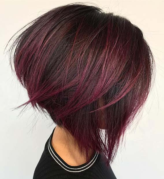 Short Burgundy Hair