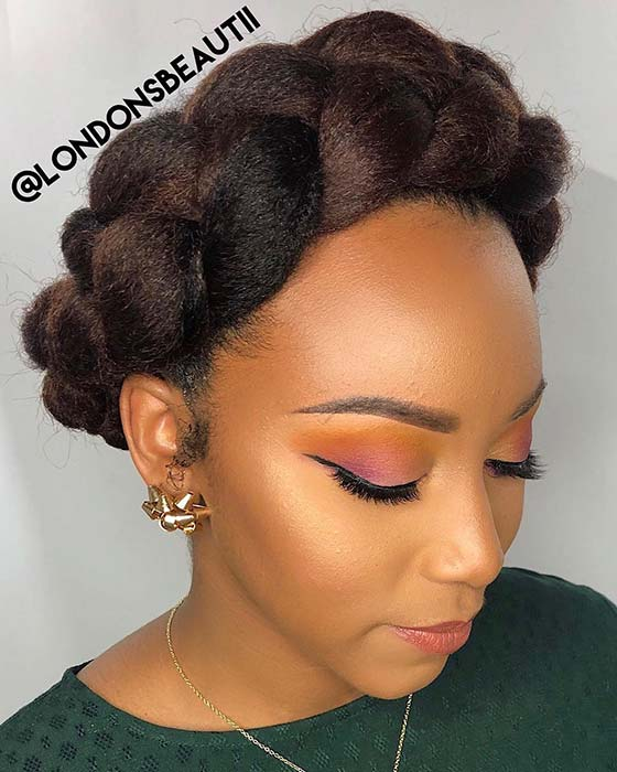Chunky Halo Braid with Weave