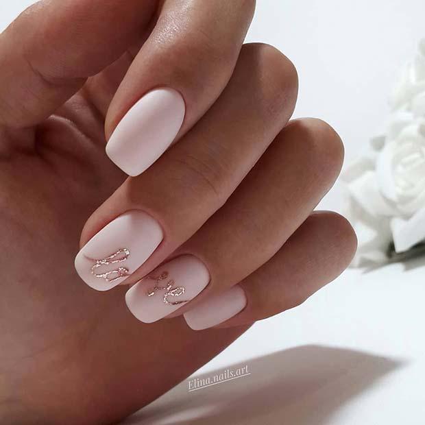 Pretty Wedding Nail Ideas for Brides,to,Be , crazyforus