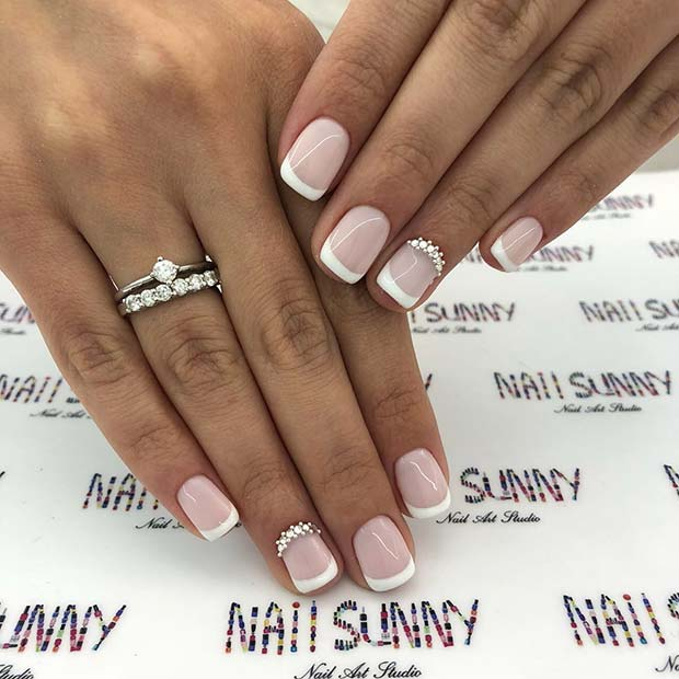 Short Wedding Gel Nails