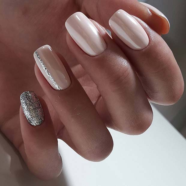 Sparkly Wedding Nails