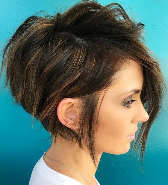 Stylish, Graduated Short Haircut