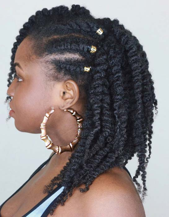 Twist Out Hairstyle for Natural Hair