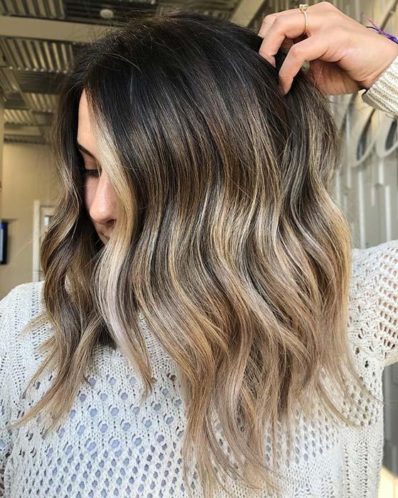 Dark Brown Hair to Blonde