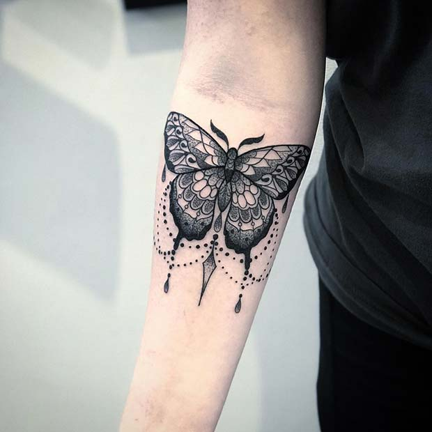 Decorative Butterfly Tattoo Design