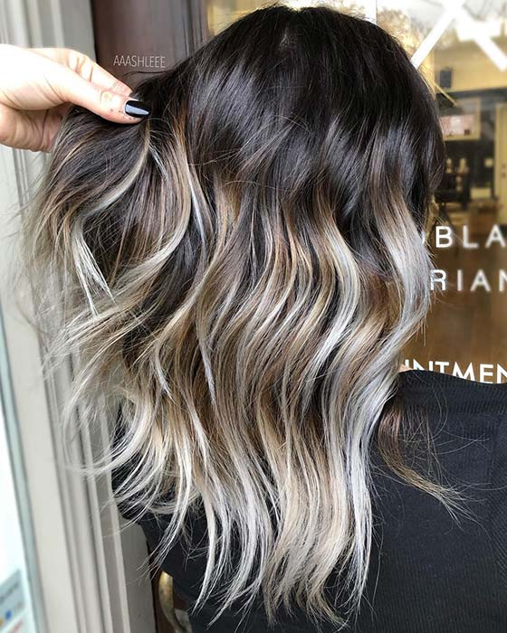 Dirty and Ice Blonde Balayage