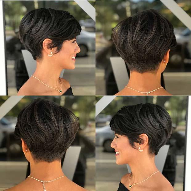 Layered Long Pixie Haircut