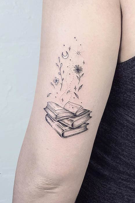 Awesome Tattoo Ideas for Book Lovers - crazyforus