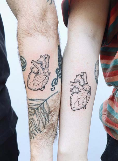 Quirky Heart Tattoos