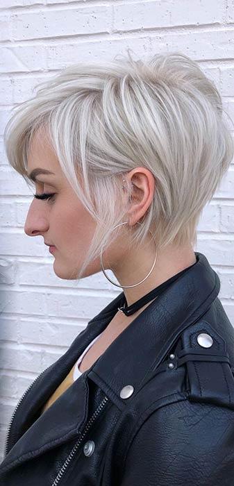 Short Blonde Haircut for Women