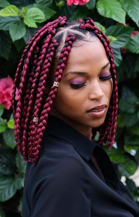 Short Box Braid Hairstyles Perfect for Warm Weather ...