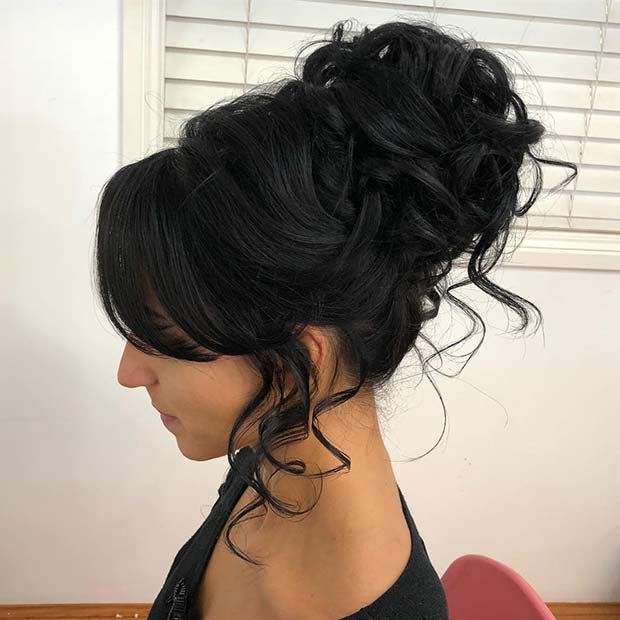 Beautiful Quinceanera Updo Idea