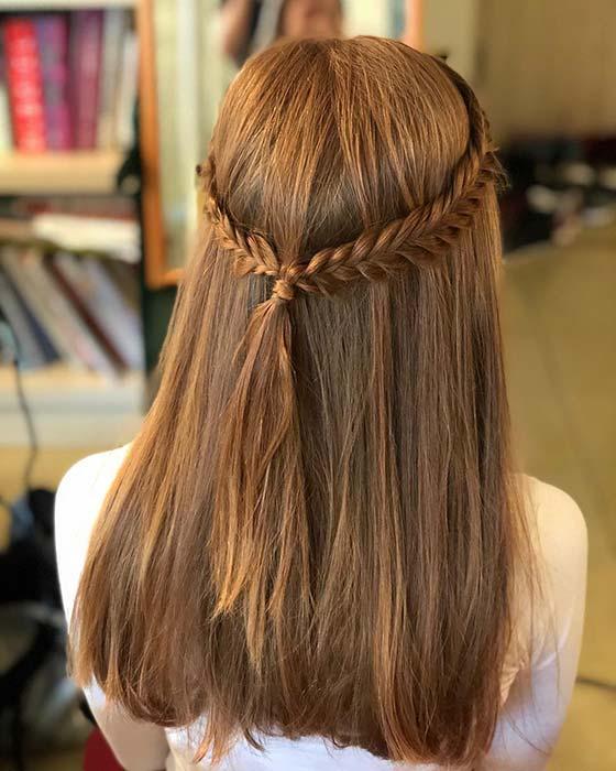 Pretty Half Up, Half Down Braid Hairstyles to DIY - crazyforus