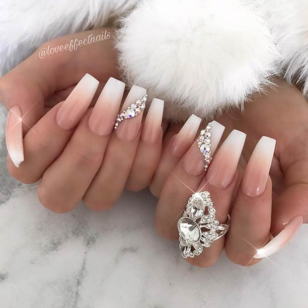 Crazy,Gorgeous Nail Ideas for Coffin Shaped Nails , crazyforus