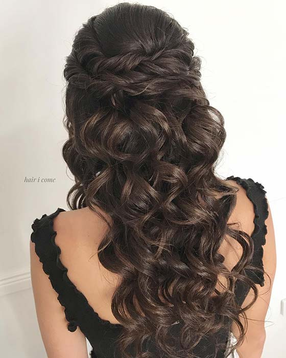 Half Up Hairstyle with Twists