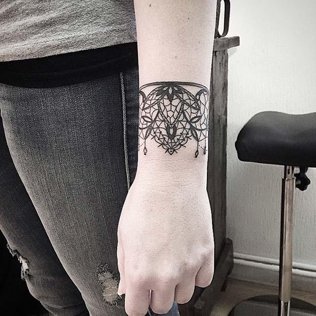 Pretty Bracelet Tattoo Idea