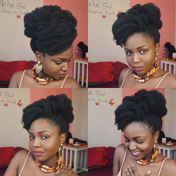 Glam Natural Updo Idea