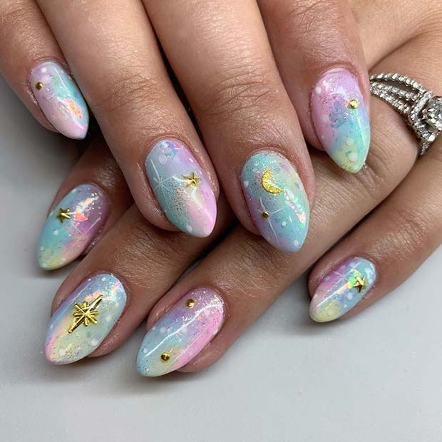 Magical Mani with Gold Stars
