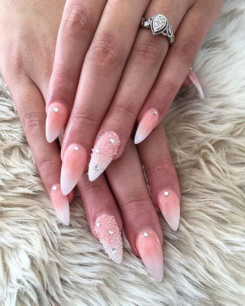 French Ombre Stiletto Nails