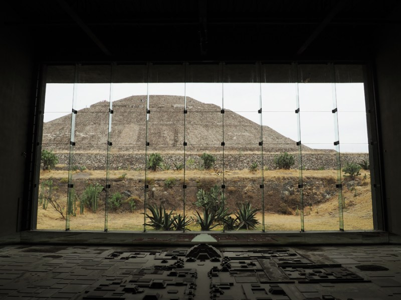 This is a view from the Teotihuacan museum which included history and artifacts found from the surrounding pyramids and locations. | Stay gold Autumn