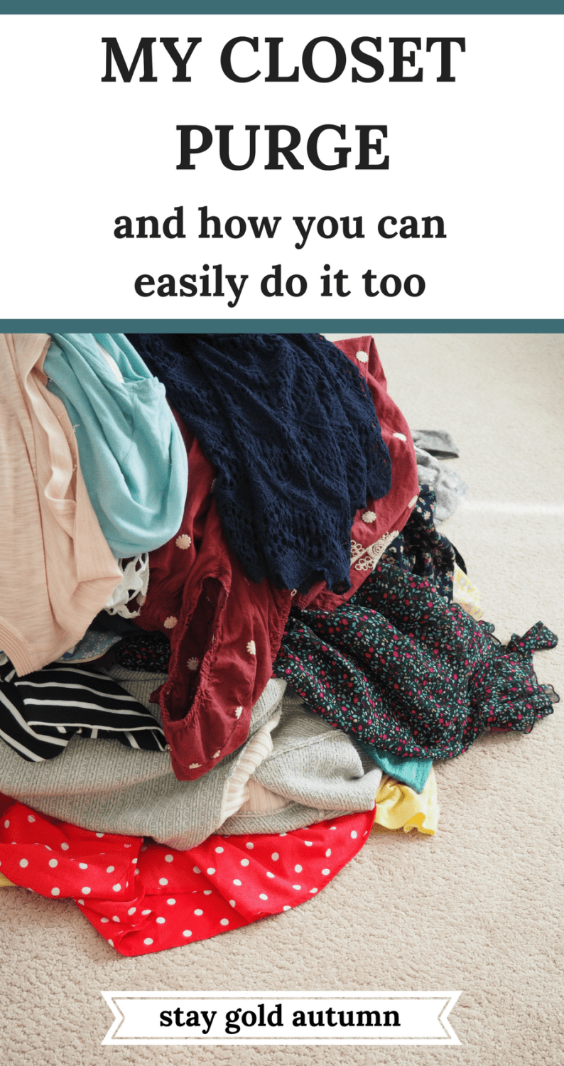 My closet has been a place of misery for way too long. I've spent the last few months deciding how I am going to eliminate my closet and cake up with the best system for my closet purge with resources for you!. | Stay gold Autumn