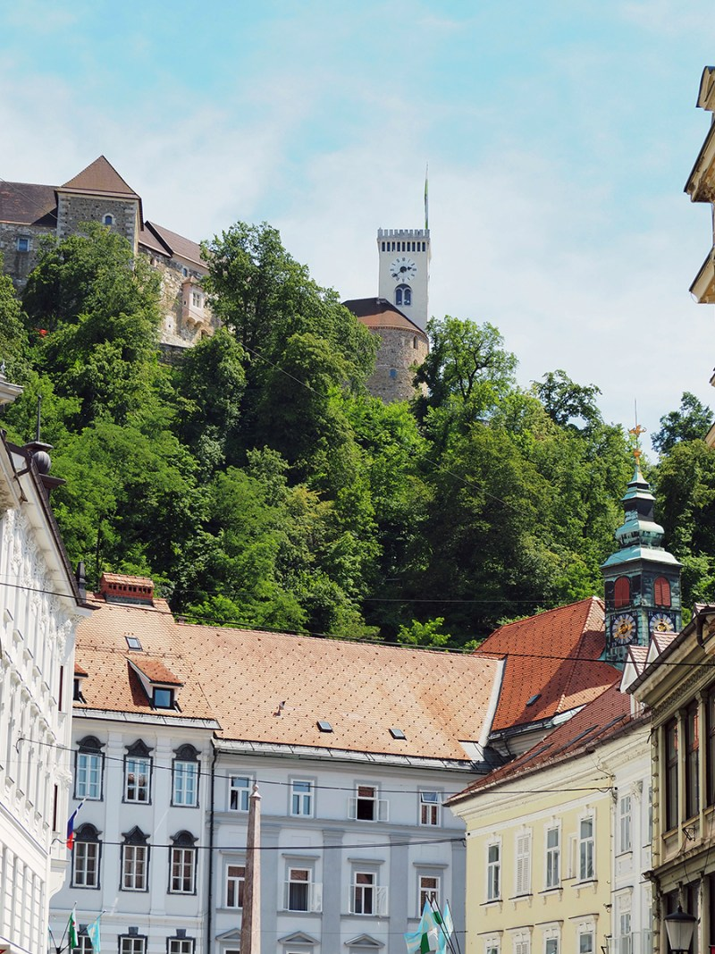 A view of Ljubljana Castle overlooking the capitol city in Slovenia.. | via Stay gold Autumn