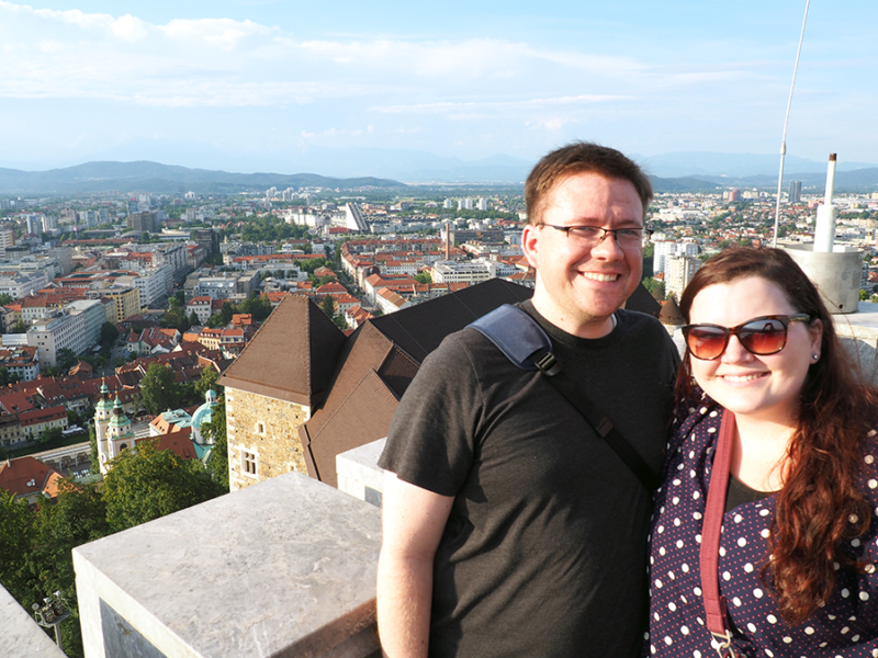 A view from Ljubljana Castle overlooking the capitol city in Slovenia..   via Stay gold Autumn