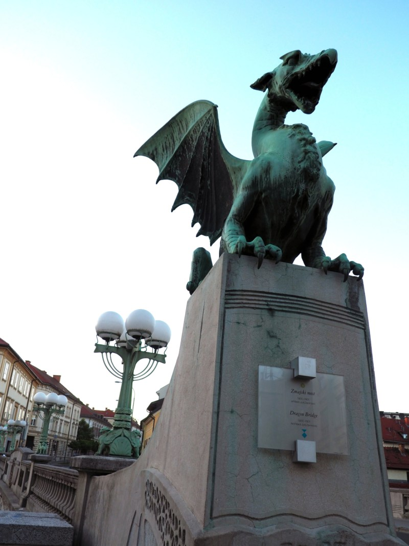 The Dragon Bridge in Slovenia: Ever heard of a guy named Jason and the argonauts? Well, part of his mythical journey led him through the Ljubljana marshes to defeat a dragon before returning the golden fleece. The dragon is a huge part of Slovenian logos! This bridge is a tribute to the myth. | via Stay gold Autumn
