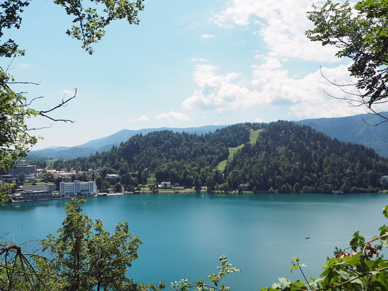 This is the beautiful view while hiking up to Bled Castle. The hike was beautiful and definitely worth the extra time! | via Stay gold Autumn