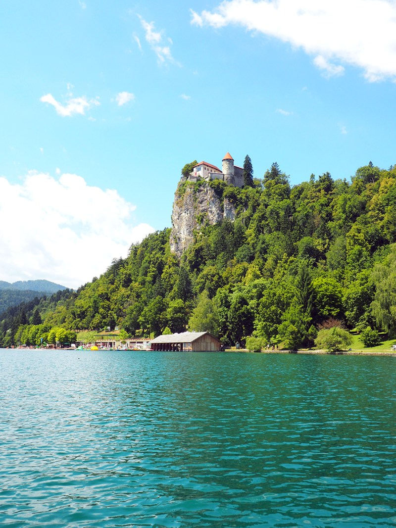 Lake Bled is in the resort town of Bled, Slovenia at the foot of the Julian Alps with views of Bled Castle. | via Stay gold Autumn