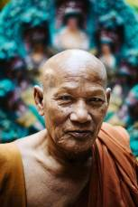 A Buddhist monk in Chiang Mai, Thailand
