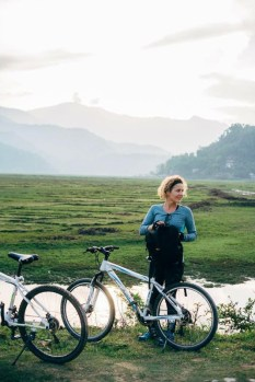 Cycling in Pokhara valley, travel to Nepal