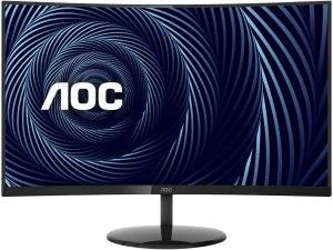 "Computer Monitor -AOC CU32V3 32"" Super-Curved 4K UHD Monitor, 1500R Curved VA, 4ms, 121% sRGB Coverage / 90% DCI-P3, HDMI 2.0/DisplayPort, VESA, Black - Curved screen"