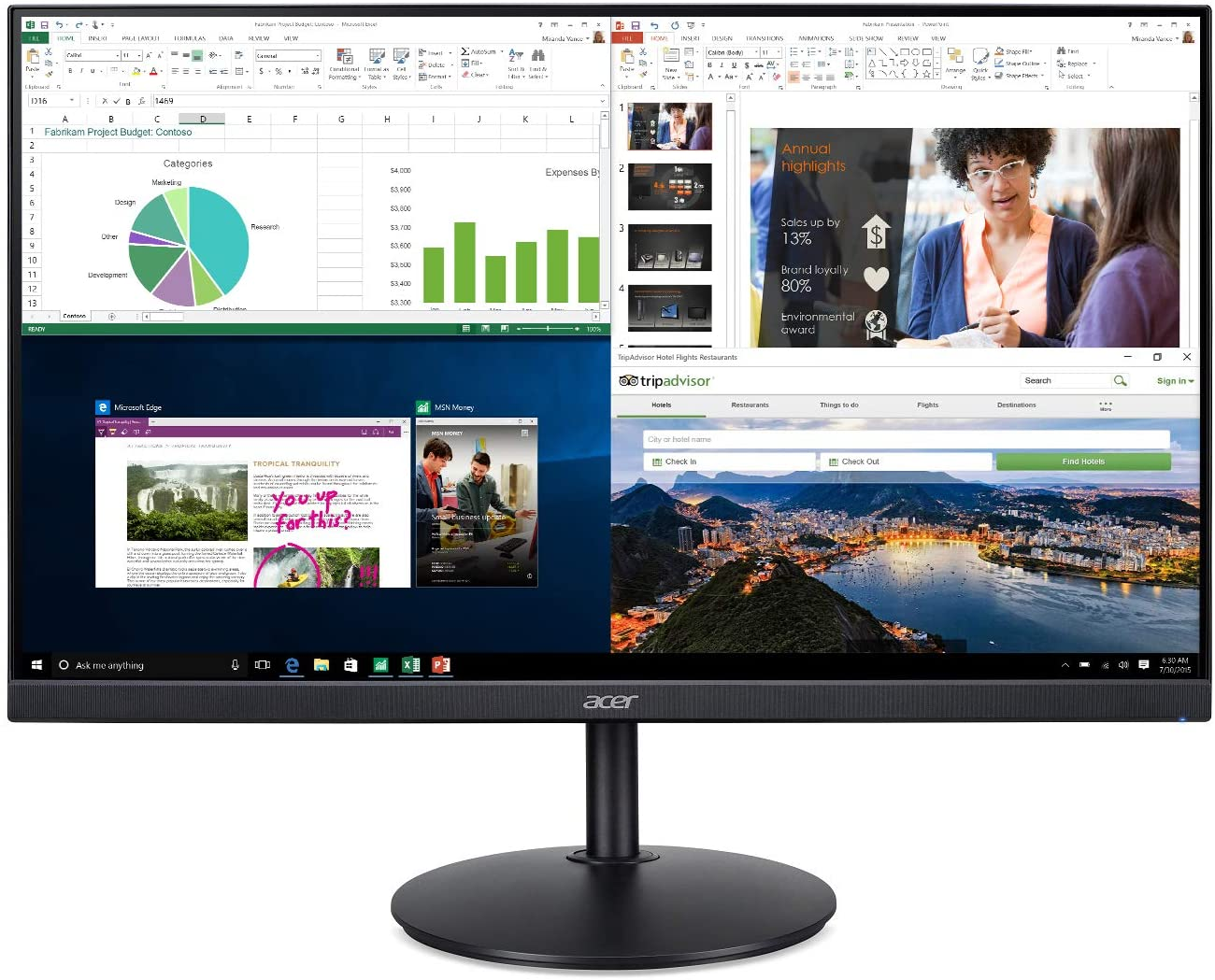Acer CB272 bmiprx 27 Inch Home Office Monitor