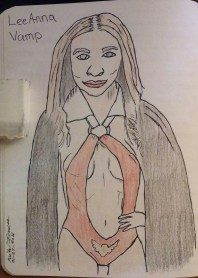 Went to TerrorExpo and met LeeAnna Vamp. A drawing I did and color it in with color pencil