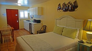 All of our rooms are air conditioned and have FREE Wifi. They feature Spanish tile floors, modern tub baths, some rooms with newly tiled showers, kitchenettes with stove top, microwave oven and refrigerator, Flat Screen color HD cable T.V. and coffee makers and toasters on request.