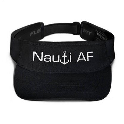 Nauti AF Visor in Black with White