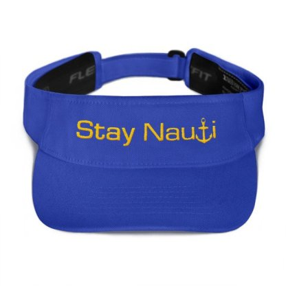 Stay Nauti Visor in Royal with Gold