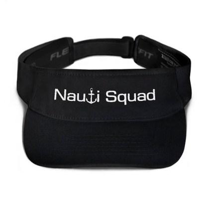 Nauti Squad Visor in Black with White