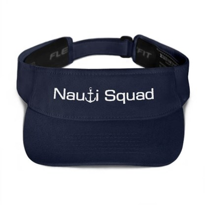 Nauti Squad Visor in Navy with White